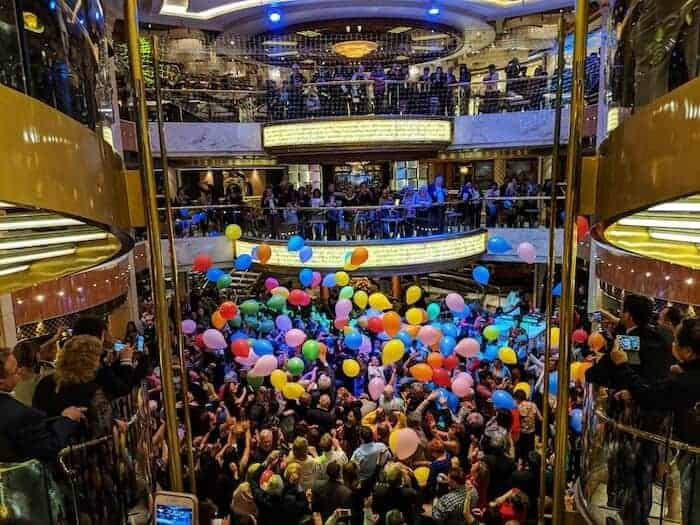 Balloon Drop Part on the Regal Princess