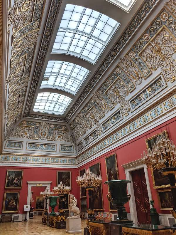 Small Italian Skylight Hall in the New Hermitage Museum