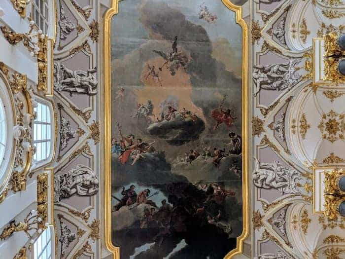 Painting of the Ceiling of Jordan Hall in the Hermitage Museum