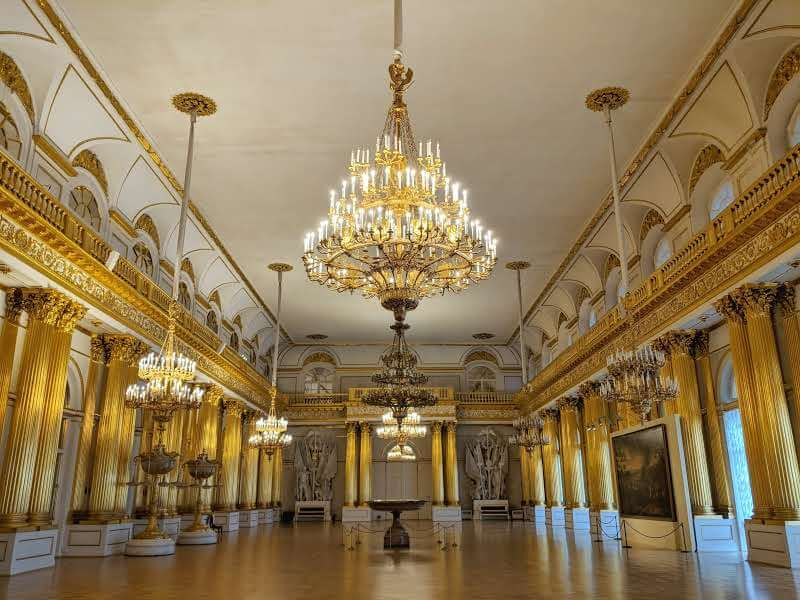 The Amorial Hall inside The Winter Palace, Hermitage Museum St Petersburg