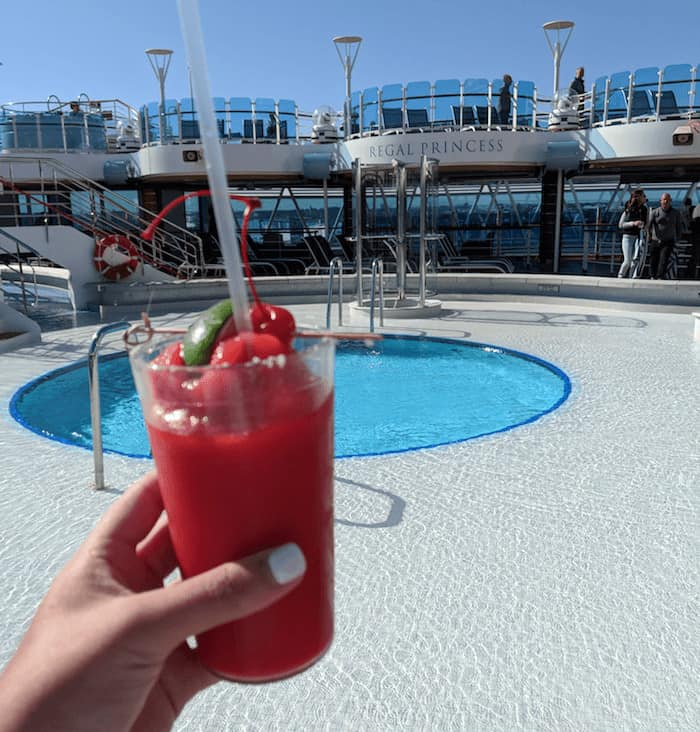 Cocktails on the Regal Princess