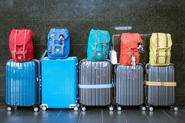 Luggage Lined Up - Cruise travel means you only have to unpack once