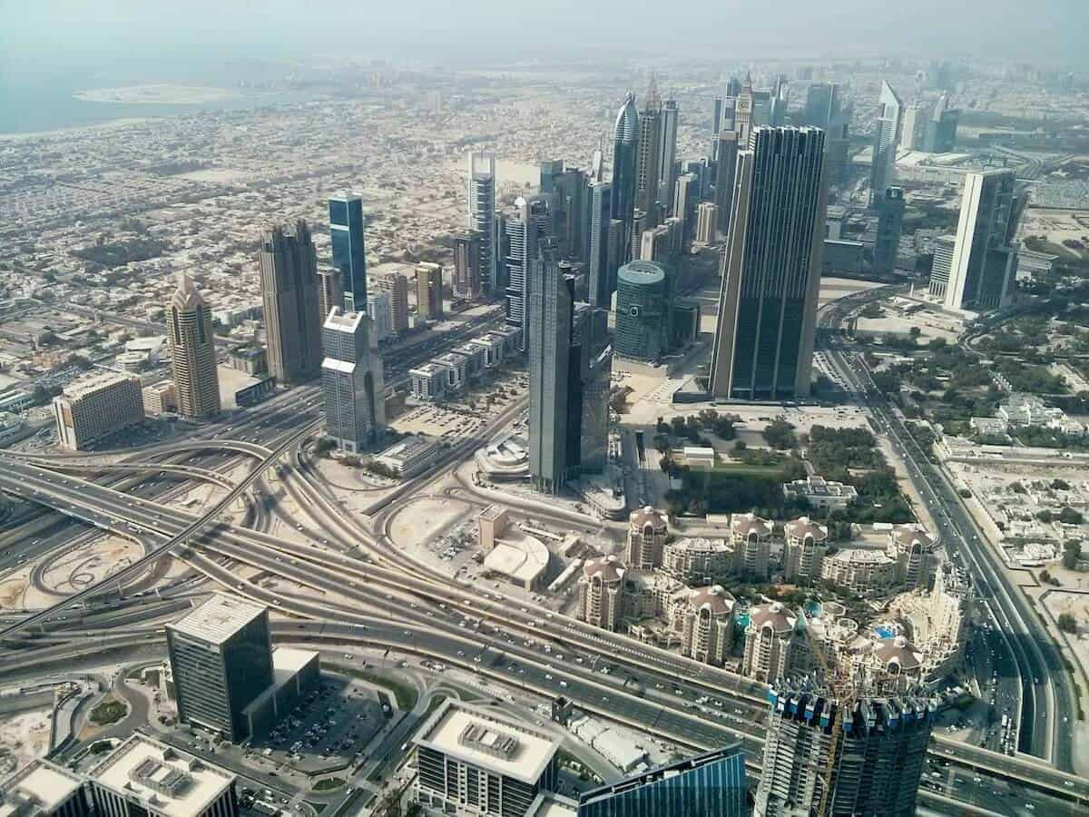 Aerial shot cover photo for Dubai Itinerary - What to do in Dubai for 3 Days