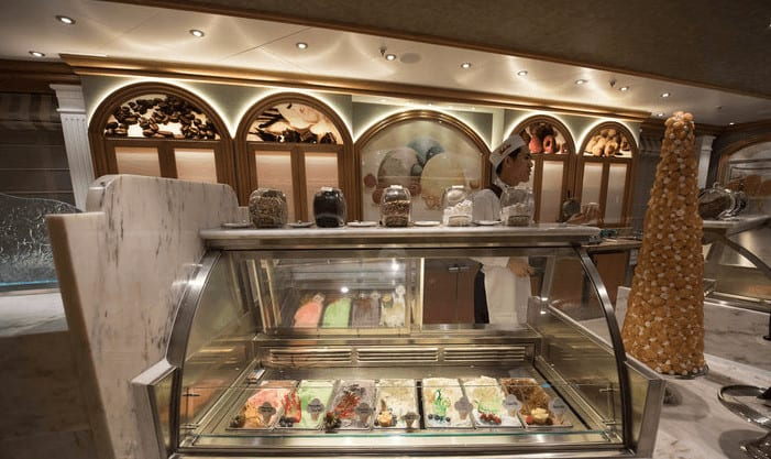 Gelato Bar on Regal Princess