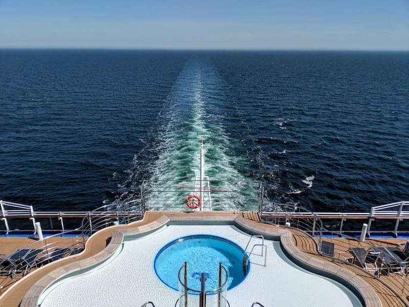 Stern of the Regal Princess Cruise Ship