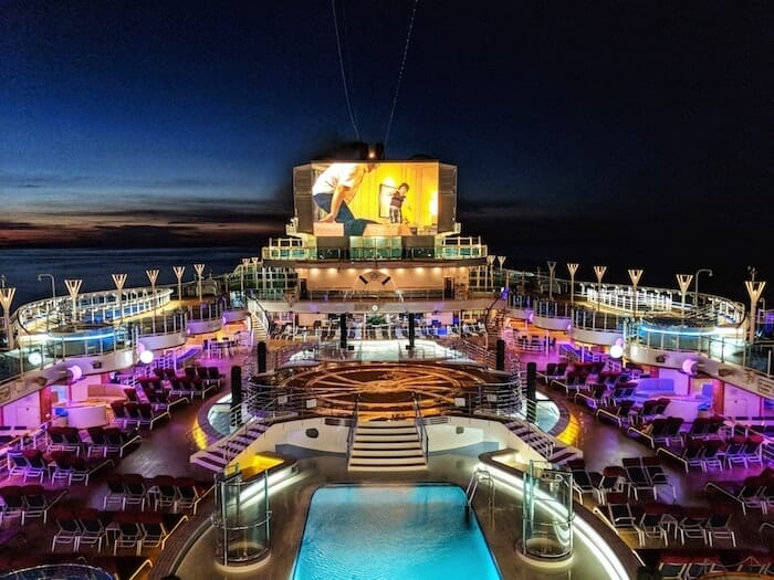 Movies Under The Stars on Princess Cruises