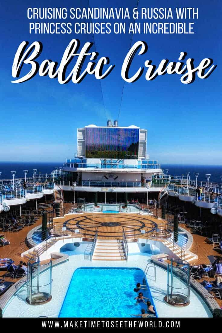 Pin image of Deck 16 of the Regal Princess with text overlay stating Regal Princess Itinerary for this Princess baltic Cruise