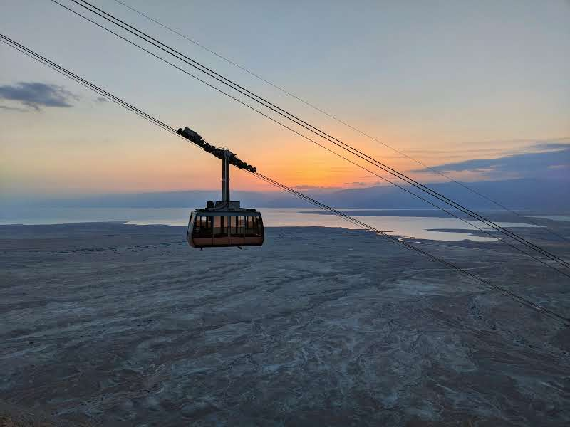 Cable Car at Masada at Sunrise