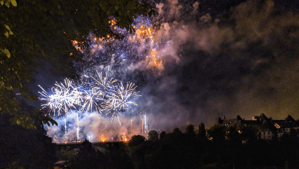 Fireworks for National Day in Luxembourg