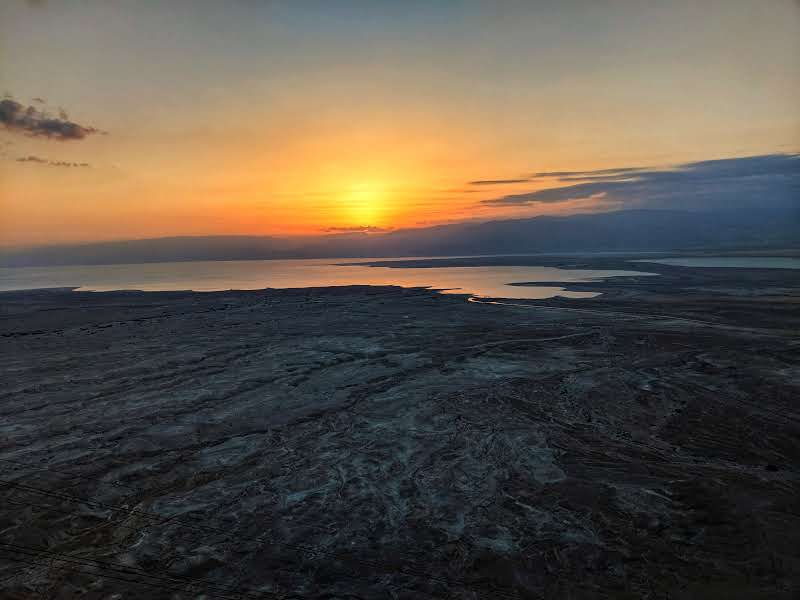 First Light at Masada Israel