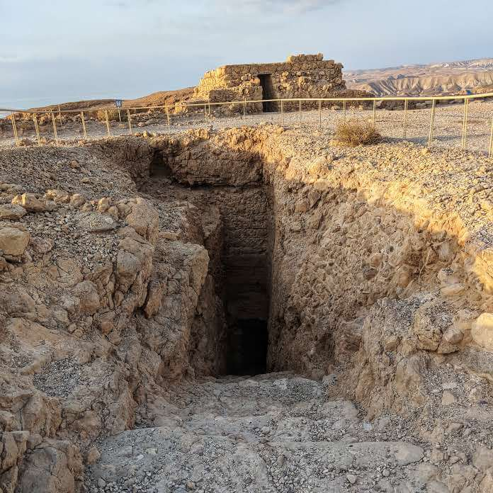 Stairways and Cisterns in Masada Fortress