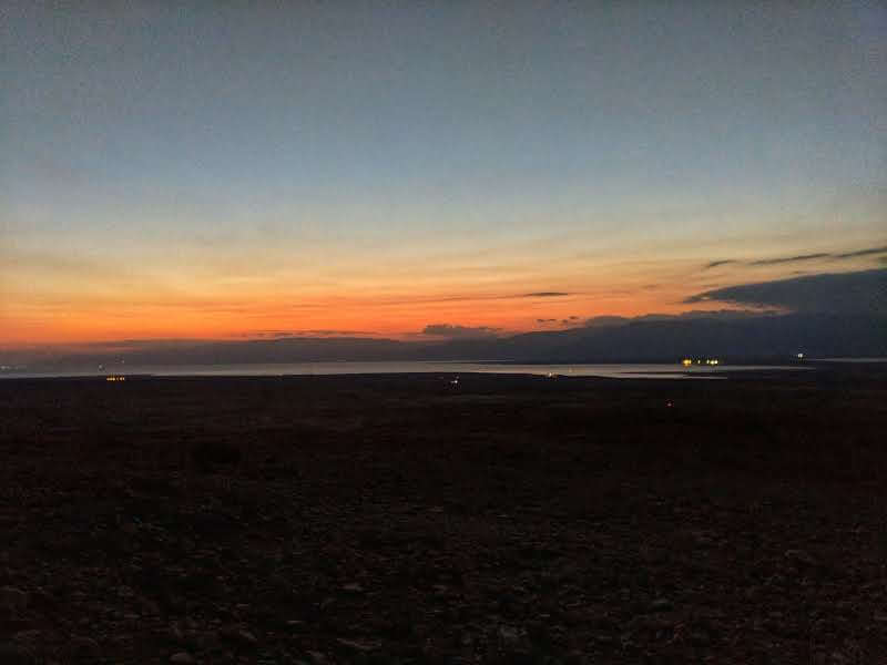 Sunrise over the Dead Sea from Mount Masada