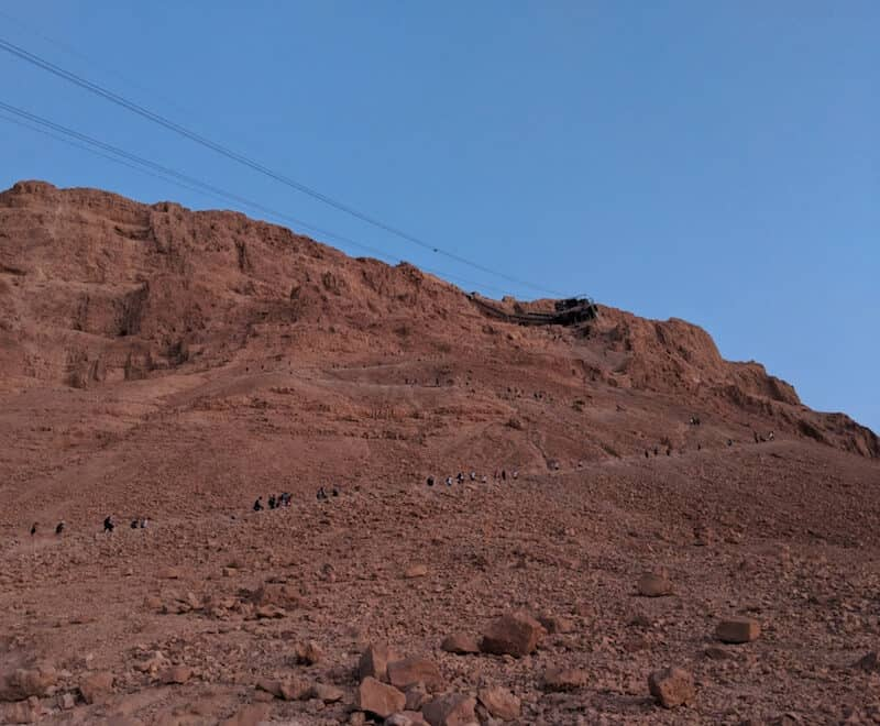 The incline of Snake Path on Mount Masada National Park