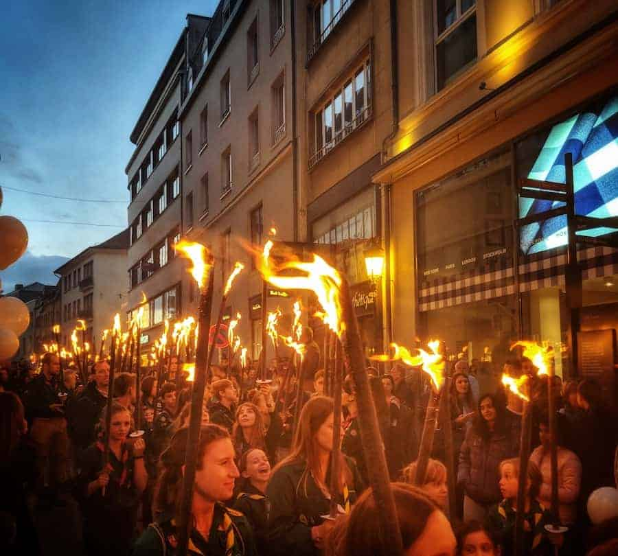 Torchlight Procession Luxembourg