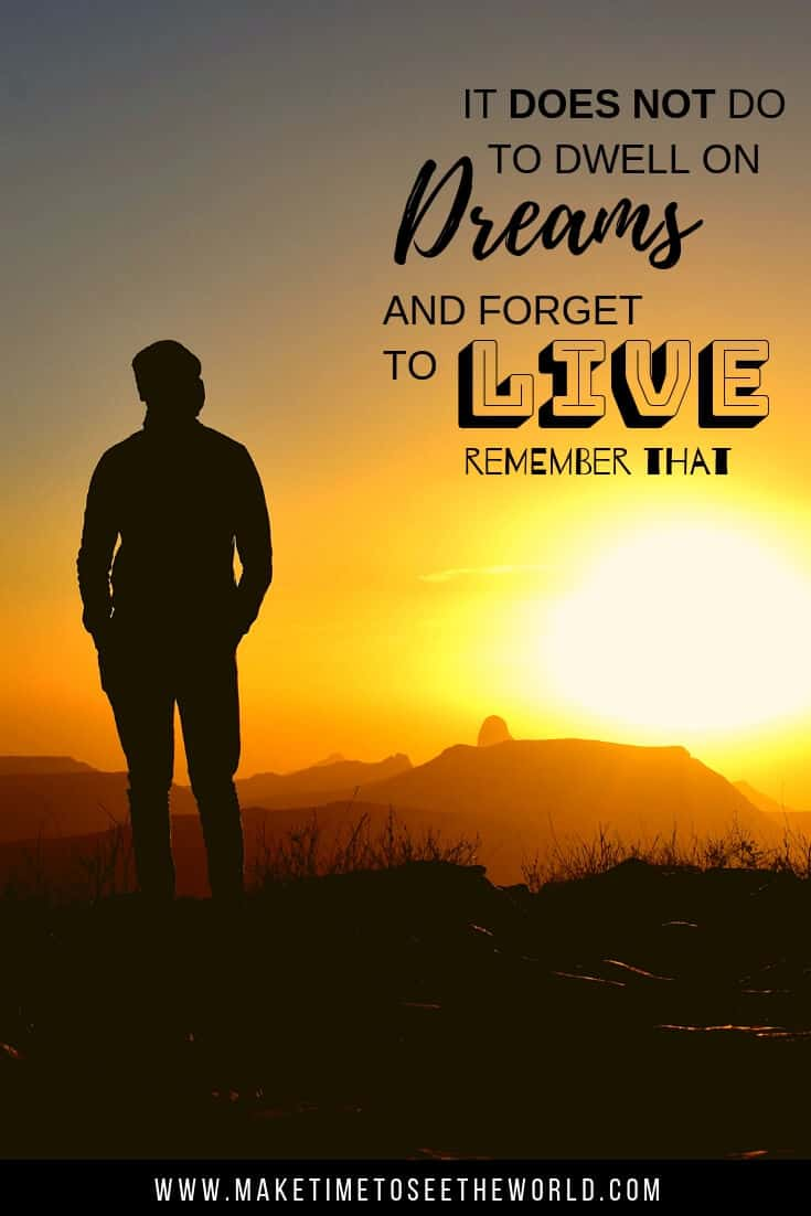 It does not do well to dwell on dreams and forget to live. Remember that. (Albus Dumbledore, Harry Potter)