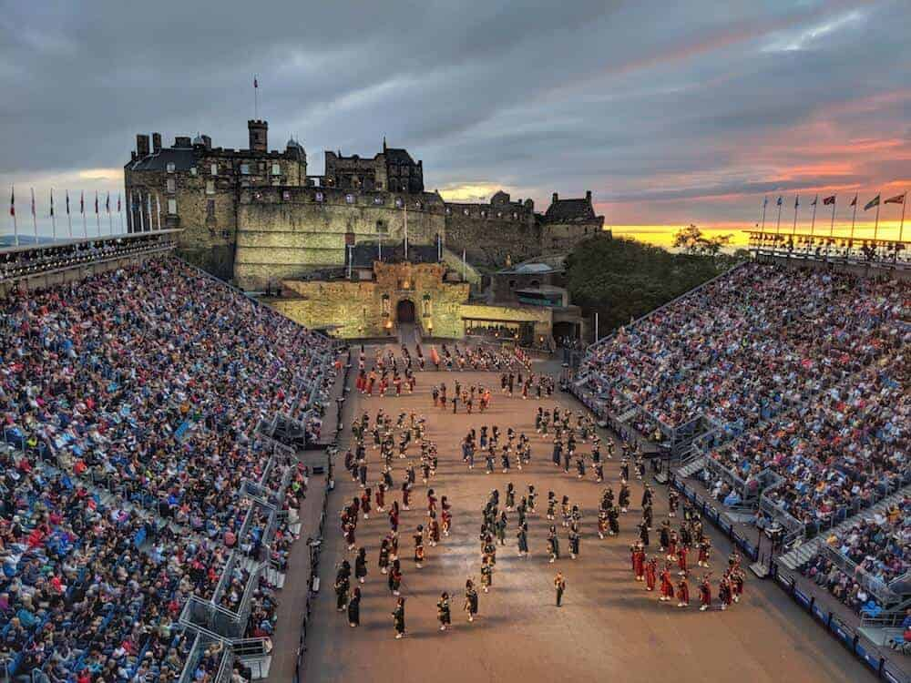 Bagpipes & Drummers at Edinburgh Military Tattoo