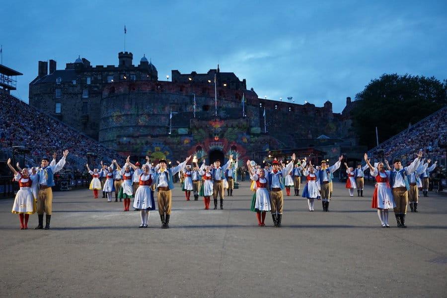 Czech dancers at Edinburgh Tattoo