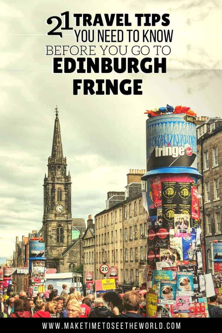 Edinburgh Festivals in August - What to Know Before you Go with text overlay above an image of the royal mile.