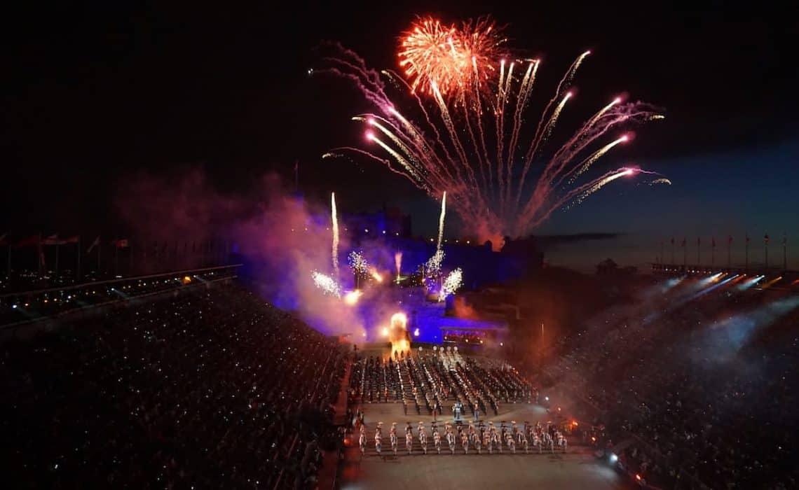 Fireworks at the Royal Edinburgh Military Tattoo