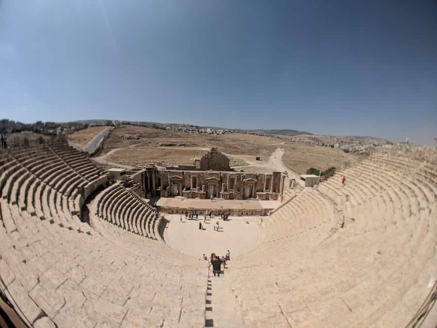 The colosseum in Jerash in Jordan