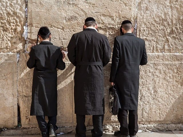 Orthodox Jews at the Western Wall