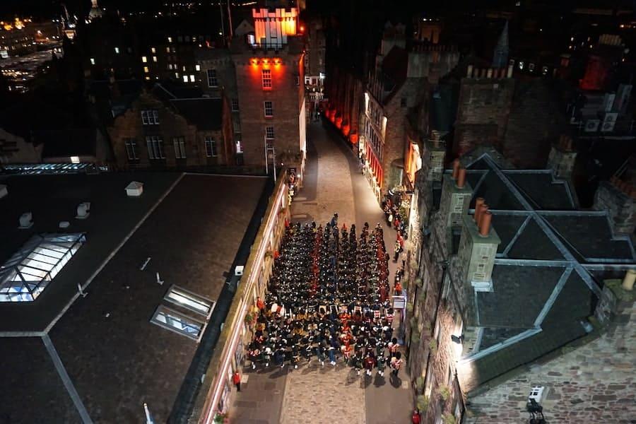 Parade on the Royal Mile after Edinburgh Tattoo