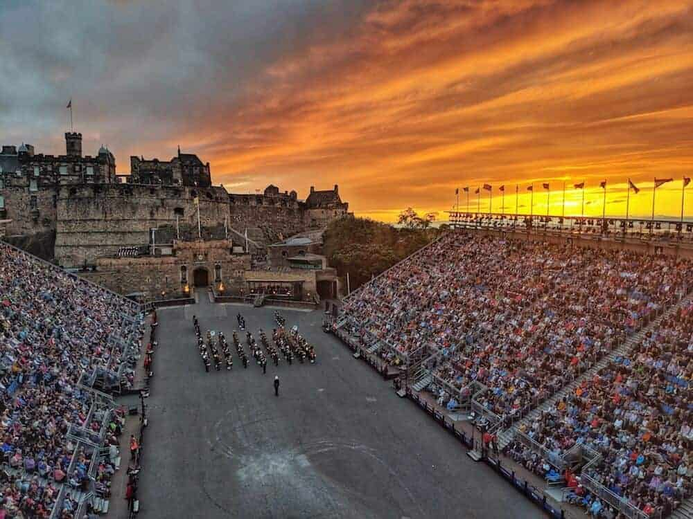 View from the Roof at the Military Tattoo