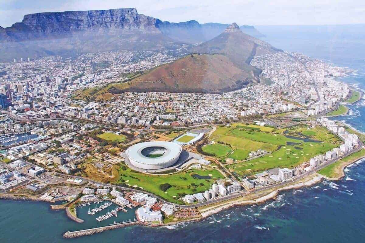 Places to visit in Cape Town - aerial shot of the city