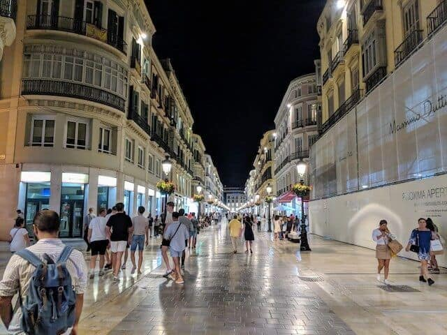 Malaga at Night