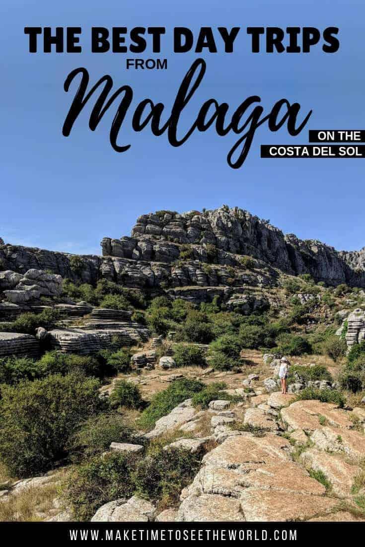 The Best Day Trips from Malaga on the Costa Del Sol including Ronda, the Caminito Del Rey, Torcal de Antequera, Gibraltar, the Alhambra at Granada, Antequera, Frigiliana & Marbella