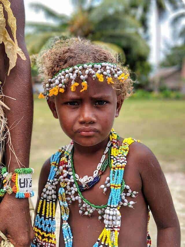 Attitude of Solomon Island Kastom Performer