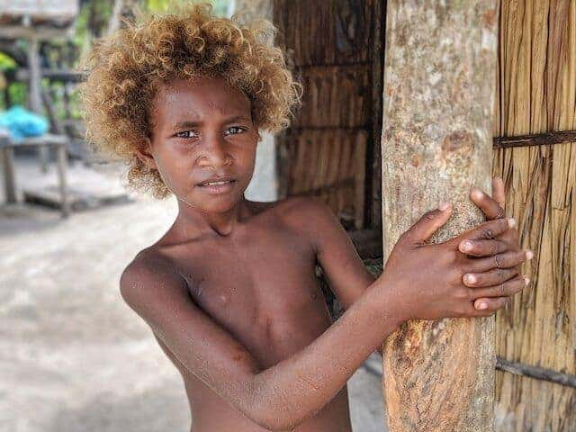 Blonde Youth - People of the Solomon Islands