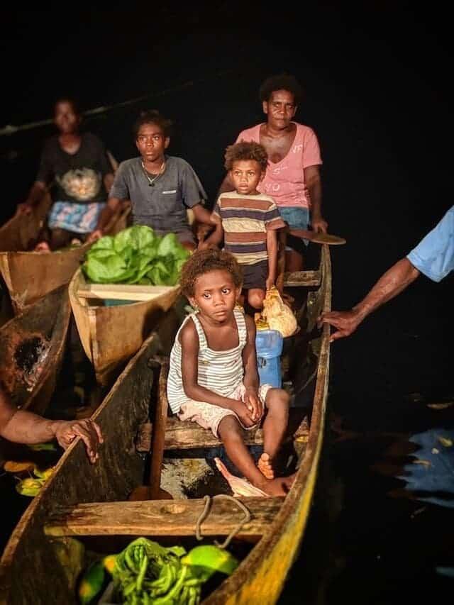 The Local Market in Mane Solomon Islands