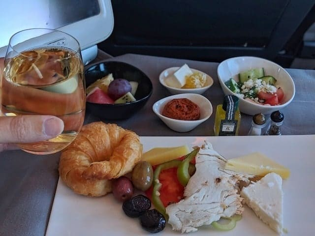 Food on board Turkish Airlines Business Class