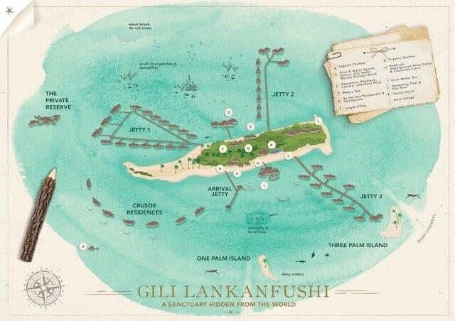 Gili Lankanfushi Resort Map