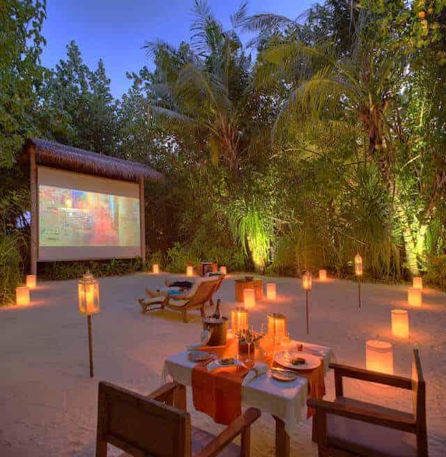 The Jungle Cinema at Gili Lankanfushi