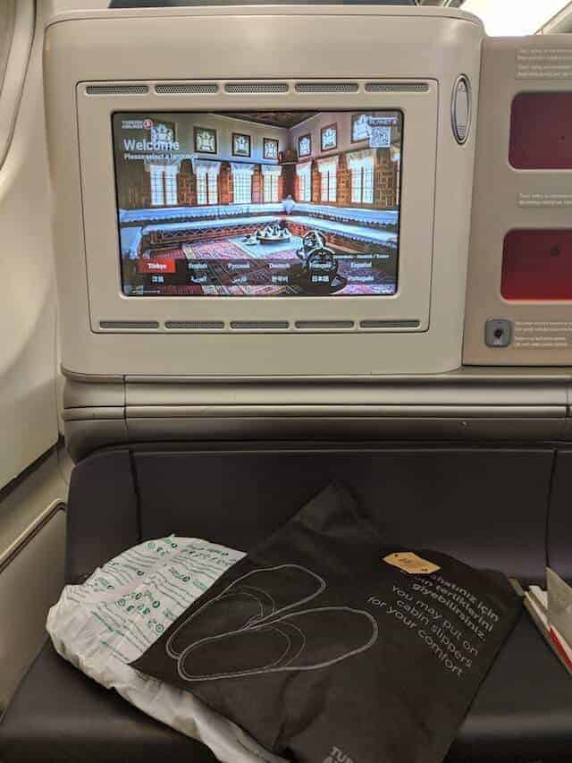Space on Turkish Airlines A330 Business Class