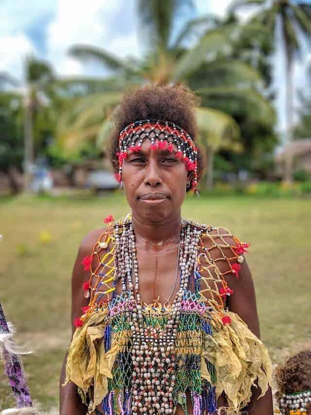 Solomon Island Kastom dancer