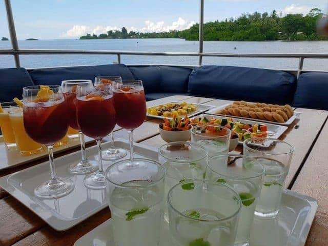 Afternoon Tea on the MV Taka