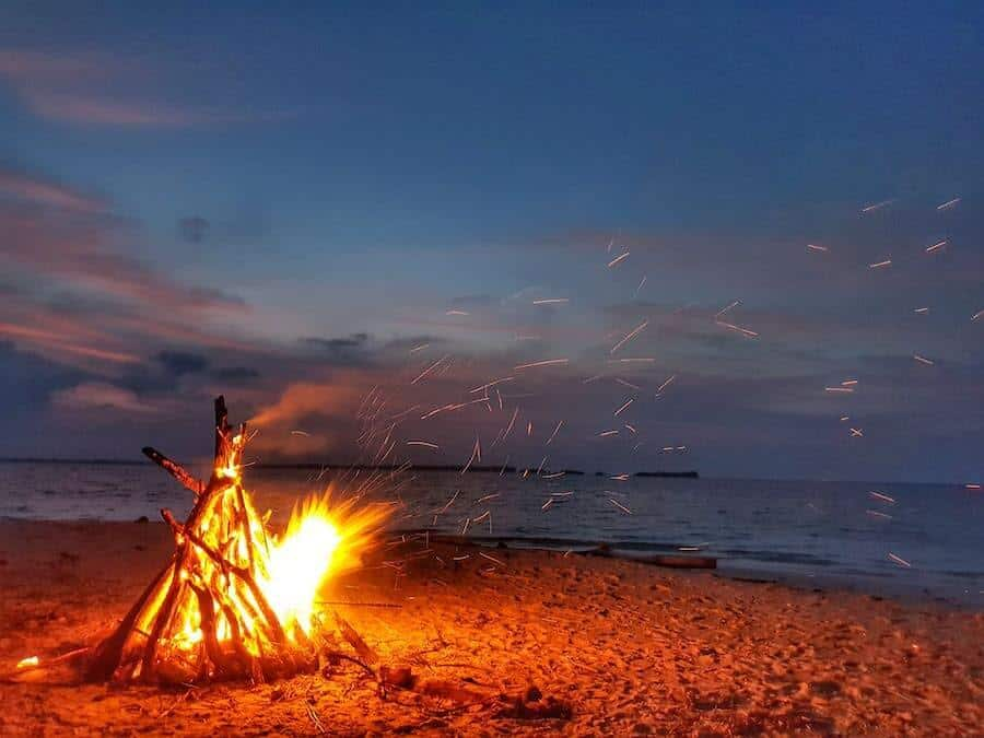 Beach Bonfire in the Russell Islands