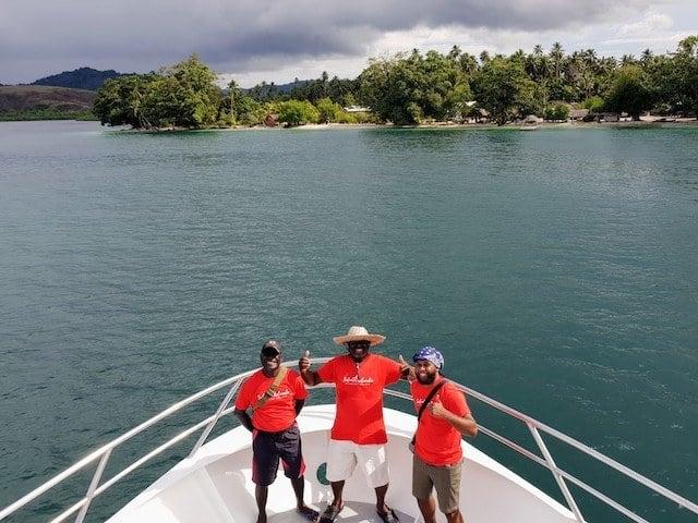 Crew onboard the MV Taka