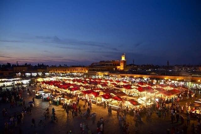 Market square in Marrakesh