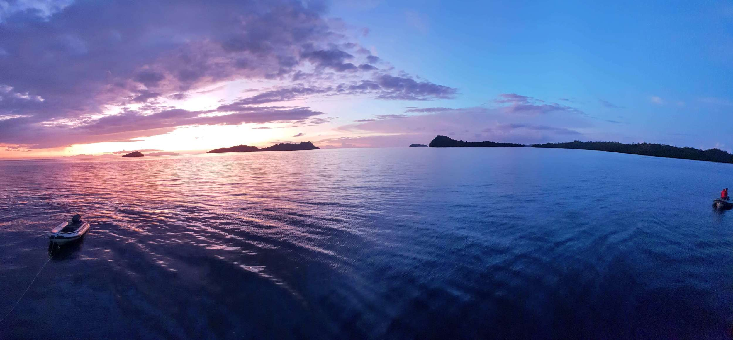 Sunset in the Solomon Islands