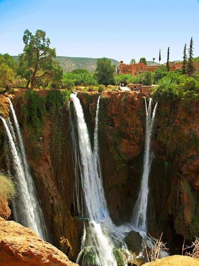 ouzoud waterfalls - one of the best day trips from marrakesh