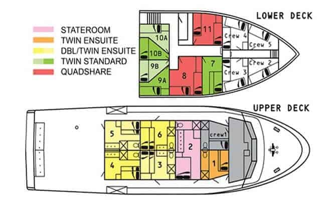 MV Taka Cabin layout