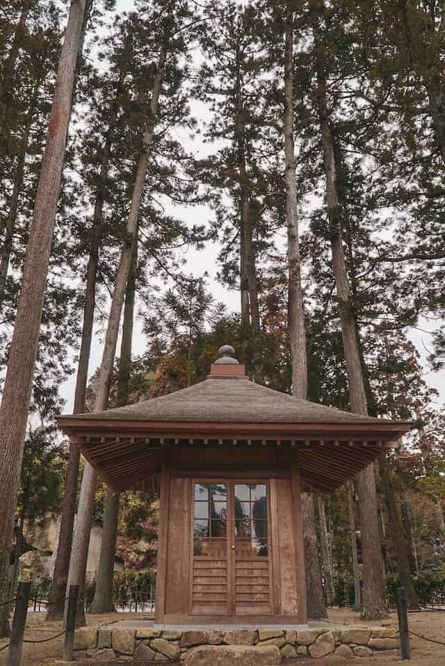 Zuigan-Ji Temple Building Surrounded by trees