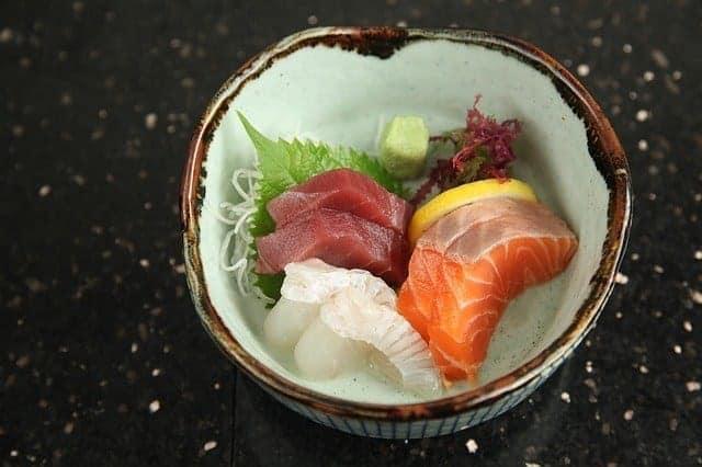 sashimi at Matsushima Fish Market