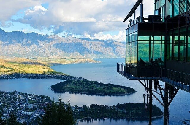 Stratosfer Restaurant overlooking Queenstown