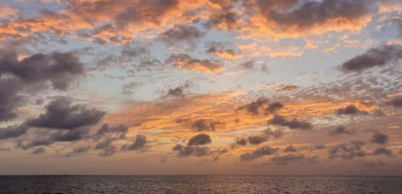 Sunset at Sea in Antigua