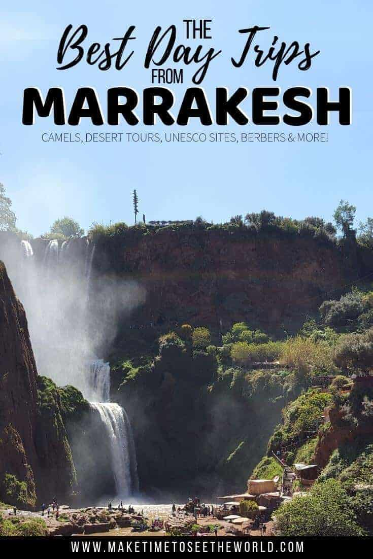 Best Day Trips from Marrakesh Pin Image with text overlay